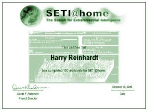SETI@Home - 100 Work Units
