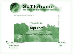 SETI@Home - 250 Work Units