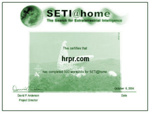 SETI@Home - 500 Work Unit